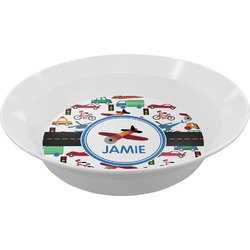Transportation Melamine Bowl (Personalized)