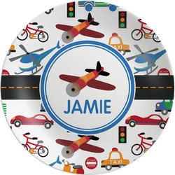 "Transportation Melamine Plate - 8"" (Personalized)"