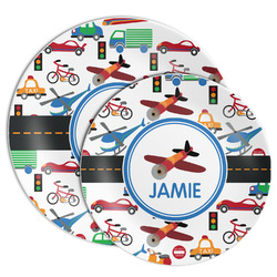 Transportation Melamine Plate (Personalized)