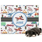 Transportation Minky Dog Blanket (Personalized)