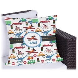 """Transportation Outdoor Pillow - 18"""" (Personalized)"""