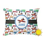 Transportation Outdoor Throw Pillow (Rectangular) (Personalized)