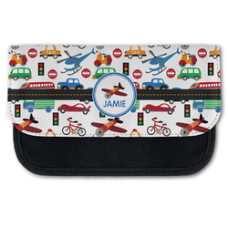 Transportation Canvas Pencil Case w/ Name or Text