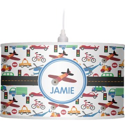 Transportation Drum Pendant Lamp Linen (Personalized)