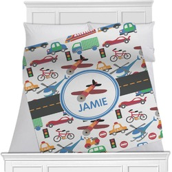 Transportation Minky Blanket (Personalized)