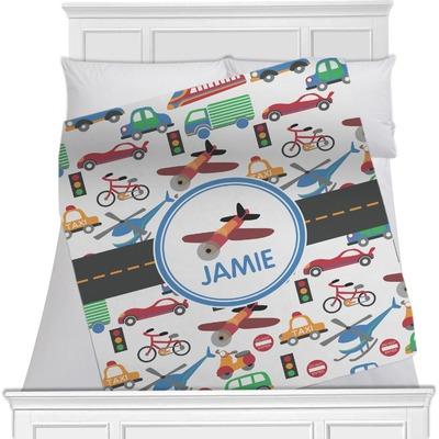 Transportation Minky Blanket (Personalized)