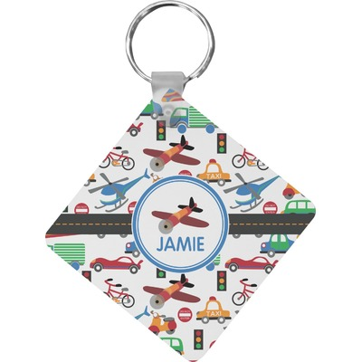 Transportation Diamond Key Chain (Personalized)