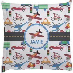 Transportation Euro Sham Pillow Case (Personalized)