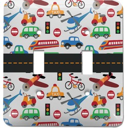 Transportation Light Switch Cover (2 Toggle Plate) (Personalized)