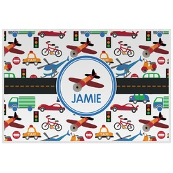 Transportation Laminated Placemat w/ Name or Text
