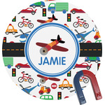 Transportation Round Magnet (Personalized)