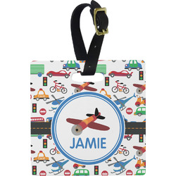 Transportation Square Luggage Tag (Personalized)