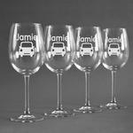 Transportation Wine Glasses (Set of 4) (Personalized)
