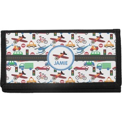 Transportation Canvas Checkbook Cover (Personalized)