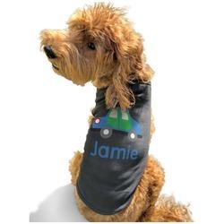 Transportation Black Pet Shirt - XL (Personalized)