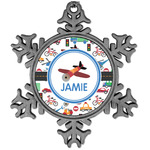 Transportation Vintage Snowflake Ornament (Personalized)