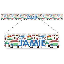 "Transportation Plastic Ruler - 12"" (Personalized)"