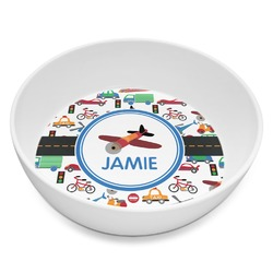 Transportation Melamine Bowl 8oz (Personalized)