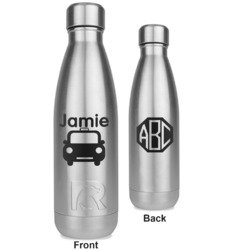 Transportation RTIC Bottle - Silver - Engraved Front & Back (Personalized)