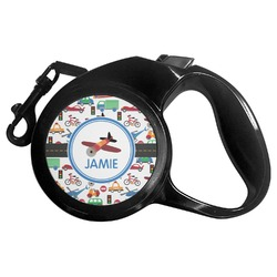 Transportation Retractable Dog Leash - Multiple Sizes (Personalized)