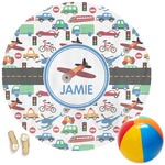 Transportation Round Beach Towel (Personalized)