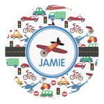 Transportation Round Decal - Custom Size (Personalized)