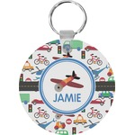 Transportation Round Keychain (Personalized)