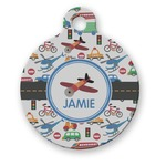 Transportation Round Pet Tag (Personalized)