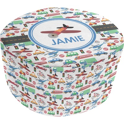 Transportation Round Pouf Ottoman (Personalized)
