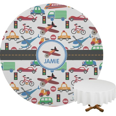 Transportation Round Tablecloth (Personalized)
