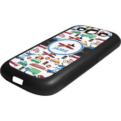 Transportation Rubber Samsung Galaxy 3 Phone Case (Personalized)