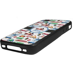 Transportation Rubber iPhone Case 4/4S (Personalized)