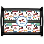 Transportation Black Wooden Tray (Personalized)