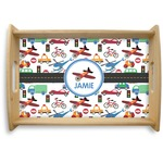 Transportation Natural Wooden Tray (Personalized)