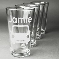 Transportation Beer Glasses (Set of 4) (Personalized)