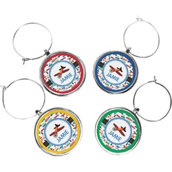 Transportation Wine Charms (Set of 4) (Personalized)