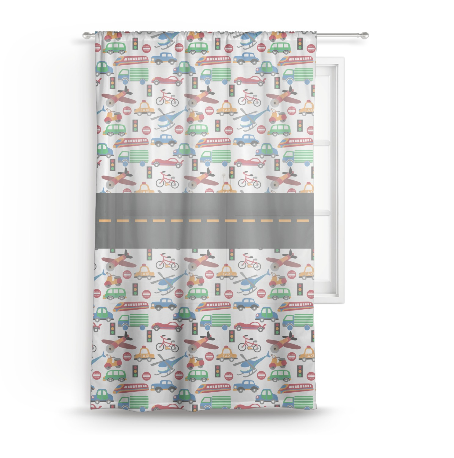 types of curtains transportation sheer curtain 50 quot x84 quot personalized 31308