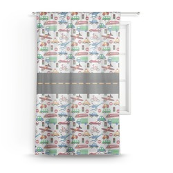 Transportation Sheer Curtains (Personalized)
