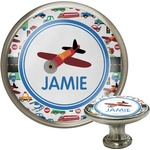 Transportation Cabinet Knob (Silver) (Personalized)