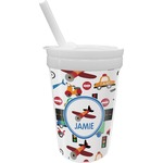 Transportation Sippy Cup with Straw (Personalized)