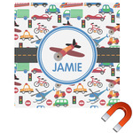 Transportation Square Car Magnet (Personalized)