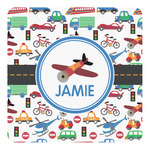 Transportation Square Decal - Custom Size (Personalized)