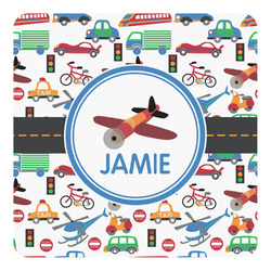 Transportation Square Decal (Personalized)
