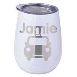 Transportation Stemless Wine Tumbler - 5 Color Choices - Stainless Steel  (Personalized)