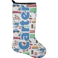Transportation Christmas Stocking - Neoprene (Personalized)