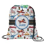 Transportation Drawstring Backpack (Personalized)