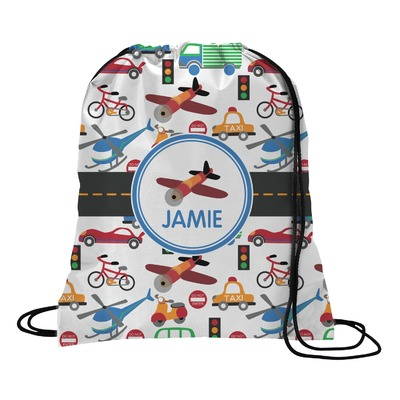 Transportation Drawstring Backpack (Personalized)