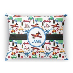 "Transportation Rectangular Throw Pillow Case - 12""x18"" (Personalized)"