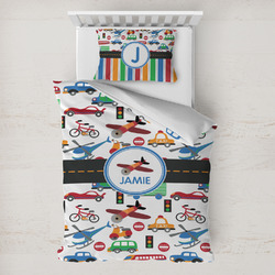 Transportation Toddler Bedding w/ Name or Text