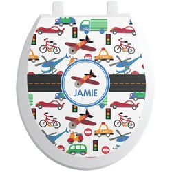 Transportation Toilet Seat Decal (Personalized)